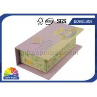Quality Customized Hinged Lid Printed Rigid Gift Box For Eyeliner Beauty Products for sale