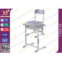 Quality HDPE Table Top Single Student Desk And Chair Set Aluminum Frame Scratch-resistant for sale