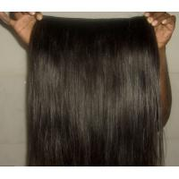 Quality Jet Black Virgin Cambodian Hair Extensions Micro Weft Silk Straight for sale