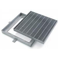 China Custom Hinged Mental Drainage Ditch Covers, Reliable Galvanized Trench Grating on sale
