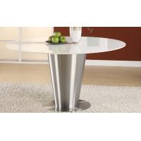 Quality Stainless Steel Artificial White Marble Top Round Dining Table Dia1000 * 750mm for sale