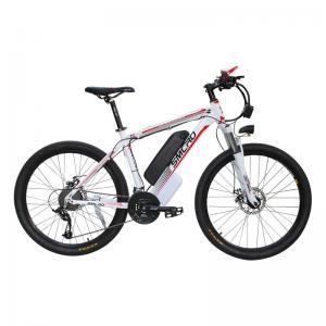 China White 48v 26 Inch Electric Bicycle Aluminum Alloy Hub Hard Wearing on sale