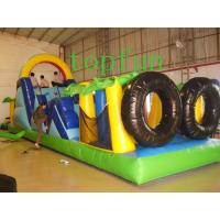 China Custom Made Fireproof Safety Rent Inflatable Obstacle Course For Kids on sale