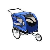 Quality Bicycle Pet Trailer, Plastic floor with D-ring to secure pet trailer for sale