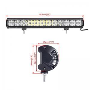 Quality 7D Cross 144 W DRL Car Roof LED Light Bar , 110v Led Flood Light Bar 2 Years Warranty for sale