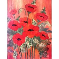 Quality flower painting flower picture cafe picture for sale