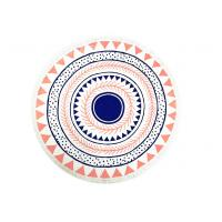 Quality Plain Style Simple Australia Beach Round Towel Printed Cotton Tassels 320gsm for sale