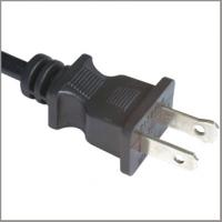 Quality USA Power Lead/UL certified 2 Core round Flexible Cable with 1-15p Plug with Buckle for sale