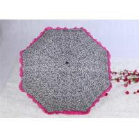 Quality Aluminum Alloy Strong Windproof Folding Umbrella Ultra Light Lace Parasol Umbrella for sale