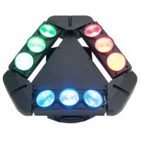 Quality Disco Lighting 9 Heads 10W 4 IN 1 LED Spider Moving Head Beam Light Energy Saving  X-93 for sale