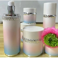 Quality Empty Lotion Pp Abs Round 50ml 120ml Cosmetic Packaging Bottle for sale