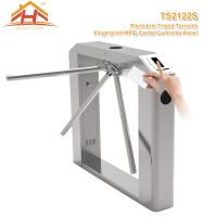 Quality Semi Automatic Tripod Barrier Gate , 3 Arm Turnstile No Exposed Screws Or Fasteners for sale