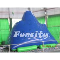 China Adults Inflatable Water Toys 0.9mm Thickness PVC Tarpaulin Inflatable Iceberg on sale