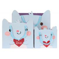 Quality Colorful Cute Shopping Bags Blue Hot Stamping And Scratch Resistance for sale