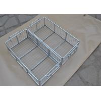 Quality 304 316 316L Stainless Steel Metal Wire Basket With Polishing Food Grade for sale