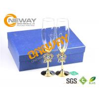 Quality Promotional Screen Printing Wine Glass Packing Box With Special Luxury Corrugated Board for sale