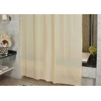 Quality Ivory Shading Beautiful Shower Curtains Color Customized Mildewproof / Greaseproof for sale