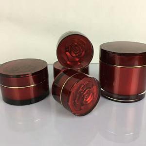 Quality 15ml 30ml 50ml 100ml 200ml  PMMA Luxury acrylic cosmetic jar Big Round Shape Acrylic Cosmetic Cream Jar for sale