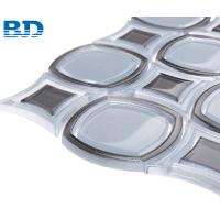 Quality Square O Water Jet Glass Mosaic for sale