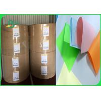 Quality Width 61 × 86cm feel good bright colors 80gsm 90gsm Colored offfset paper in roll for sale