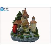 Buy Luxury Castle Aquarium Resin Ornaments With Landscaping Rockery And Waterwheel at wholesale prices