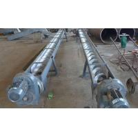 Concrete Spiral Stainless Steel Screw Conveyor For Wasters Wet Material Viscidity