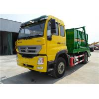China Sinotruk Homan 4x2 220hp 10m3 Loader Garbage Compactor Truck 10cbm Hydraulic Swing Arm Type on sale