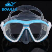 Quality Anti - Fogging Silicone Diving Mask Tempered Glass Clear View Scuba Diving Mask for sale