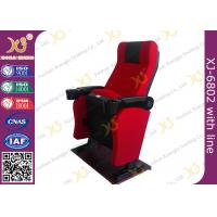 Quality Iron Material Lounger Movie Theater Chairs PP Armrest With Cup Holder 2.3mm Thickness for sale