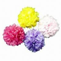 China Party Decoration with Tissue Paper Flower Design on sale