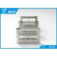 Quality Indoor Office Turnstile Access Control 40 Persons / Min , Rfid Card Turnstile Barrier Gate for sale