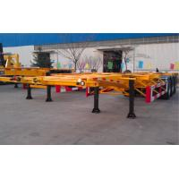 Quality 48ft 40 Tons Gooseneck Flatbed Container Trailer , 3 Axles Flatbed Truck Trailer for sale