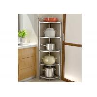Quality H134 Multi - Layer Stainless Steel Wire Kitchen Racks Corner Fan - Shaped Storage Rack for sale