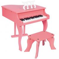 Quality 30 Key Pink Mini Grand Toy Wooden Piano With Stool Junior Keyboard Instrument W30 for sale