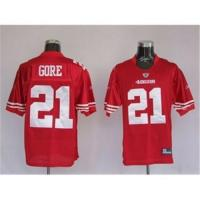 Quality San Francisco 49ers #21 Frank Gore Red NFL jerseys for sale