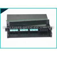 Quality 1U Fiber Optic MPO Cassette Patch Panel Wall Mount Fully Loaded With 3 Modules for sale