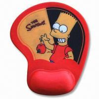 Quality Mouse Pad with Arm Rest, Made of Neoprene and Cloth for sale