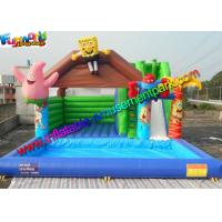 Quality 0.55mm PVC Spongebob Inflatable Bouncer Slide Pool Durable Outdoor for sale
