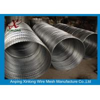 Quality Various BTO CBT Types Razor Barbed Wire With Single / Cross Coil for sale
