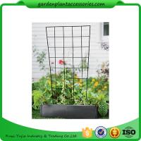 "Quality Sturdy Metal Vegetable Garden Trellis , Garden Green Bean Trellis 56"" trellis is 47-1/2"" H installed; 30"" W at the top a for sale"