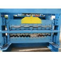 Quality Automatic Corrugated Roof Panel Roll Forming Machine PLC Control System for sale