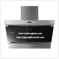 Quality Silk Screen Printing Glass with Black Color for Kitchen Range Hood for sale
