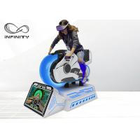 Quality Dynamic Platform Moto Racing 9D VR Simulator With HD Display Screen for sale