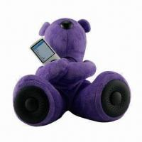 Quality Mobile Phone Mini Speaker, Teddy Bear Design, CE/RoHS Mark, Approved for MP3/MP4/Mobile Phones/PCs for sale