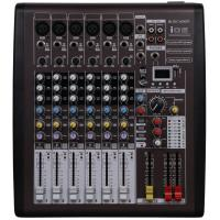 Quality 110v - 230v Portable Power Mixer , 6 Channel Dj Music Mixers With DSP I06 for sale