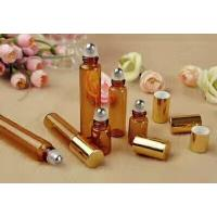 Buy empty 3ml 5ml  8ml 10ml 15ml amber cosmetic  perfume glass roll on bottle at wholesale prices