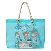 Buy cheap Eco-friendly Fashion Ladies Blue PVC Tote Handbag with Sturdy Cotton Rope from wholesalers