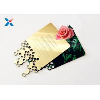 Quality Mirror Acrylic Gifts , Acrylic Invitation Card With Custom Shape For Wedding / Party for sale