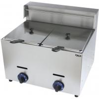 Quality Econic Type Gas Fryer Table Top 10 Liter*2 Stainless Steel Body 2 Tank 2 Basket Gas Fryer FMX-WE72 for sale