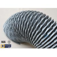 Quality PVC Coated Fiberglass Fabric HAVC Flexible Air Duct 200MM Grey 260℃ Waterproof for sale